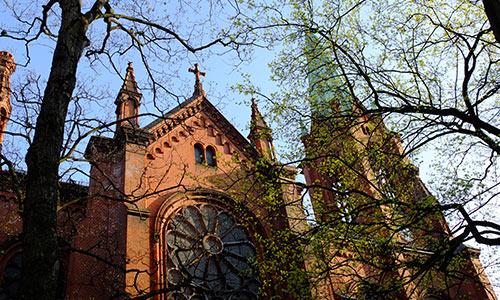 Ansicht der Gethsemanekirche