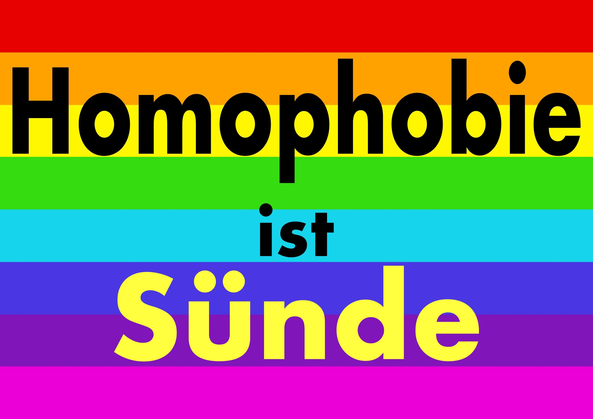 Homophobie ist Sünde – Gottesdienst zum CSD am 26. Juni – Livestream