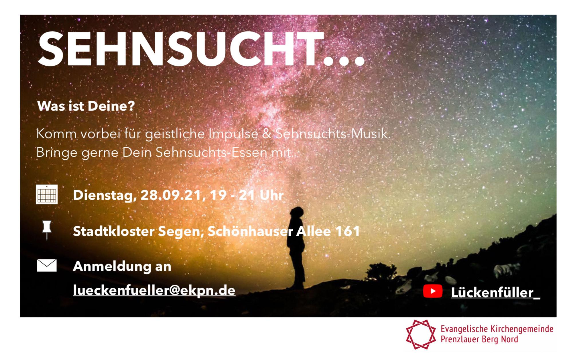 """Die Lückenfüller – """"Sehnsucht"""" – 28. September, 19 Uhr"""