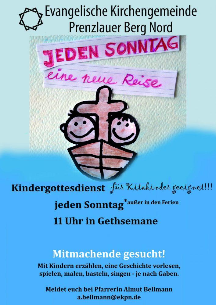 """Kindergottesdienst """"KiGo"""" sonntags im Kirchgarten"""